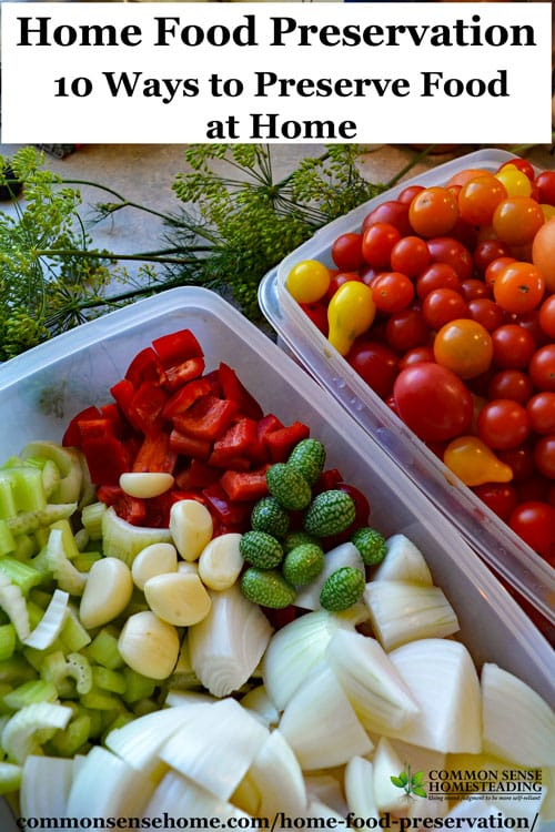 Home food preservation 10 ways to preserve food at home comparison of home food preservation methods including canning freezing freeze drying dehydrating forumfinder Images