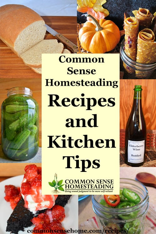 Common sense homesteading recipes and kitchen tips forumfinder