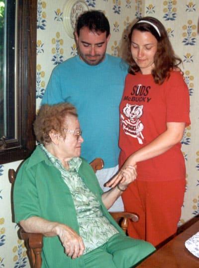 Grandma Ida admiring the ring