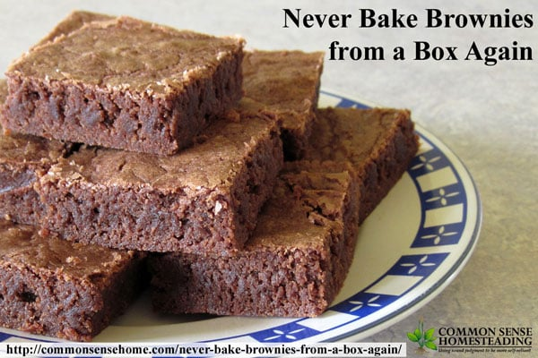 The best homemade brownies - never bake brownies from a box again.