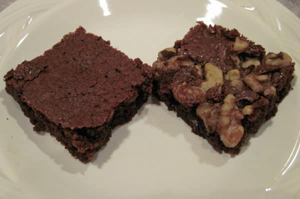 Regular and nut brownies