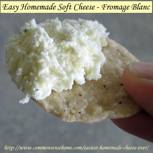 The Easiest Homemade Cheese Ever - Fromage Blanc Soft Cheese