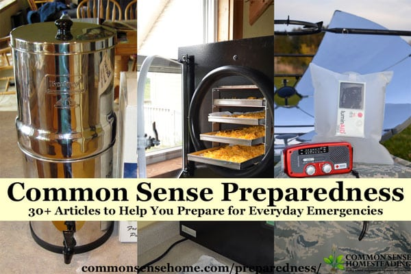 30+ preparedness articles to help you prepare for everyday emergencies - food and water, emergency power, cold weather, health, first aid and more.
