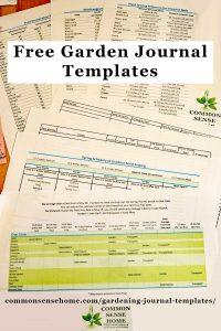 Free gardening journal templates, including seed sowing schedule, plant spacing and seed longevity charts, seed purchase log and planting and germination records - plus other record keeping tips.