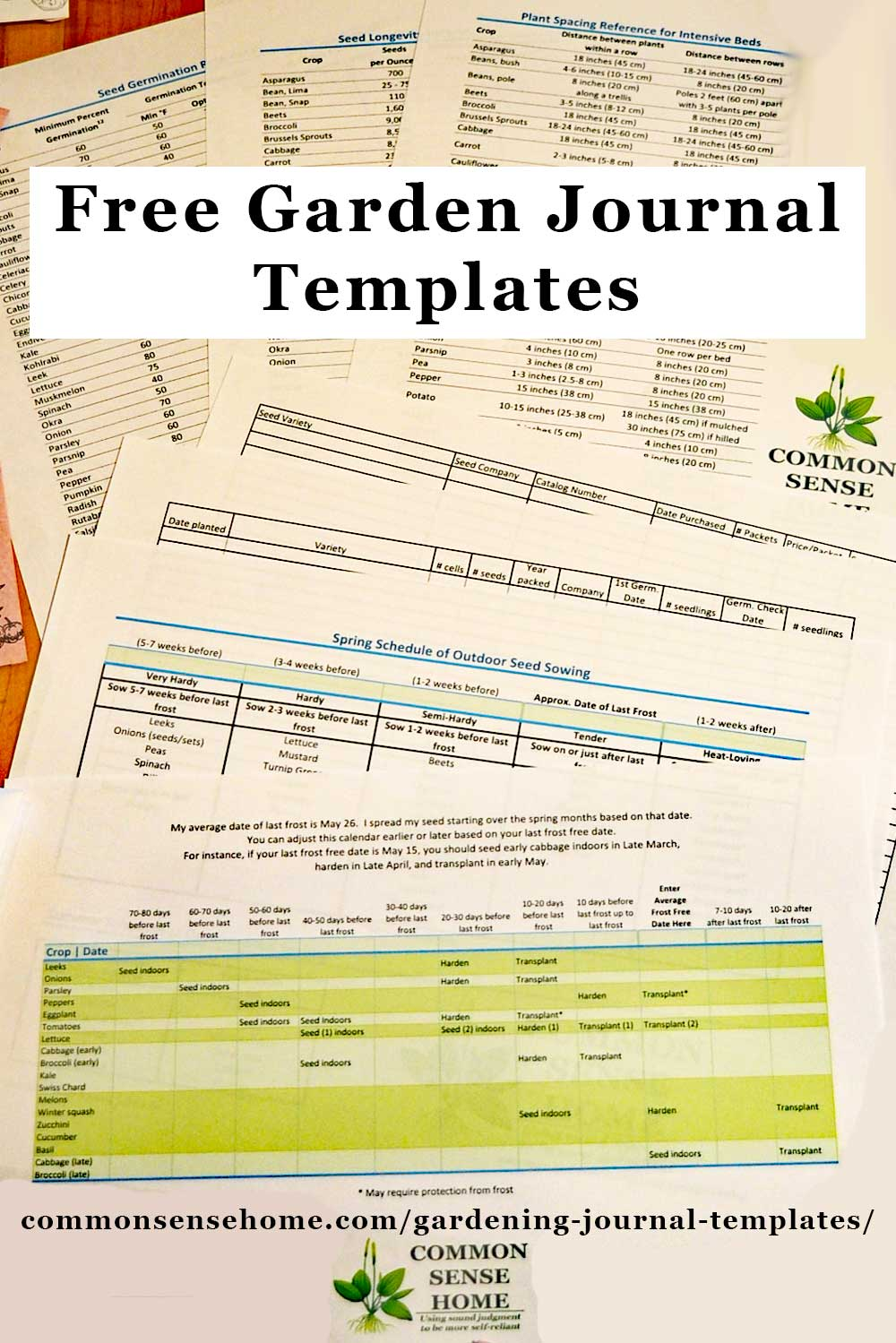 Free Gardening Journal Templates and Other Garden Record