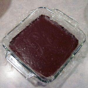 chocolate truffles in pan