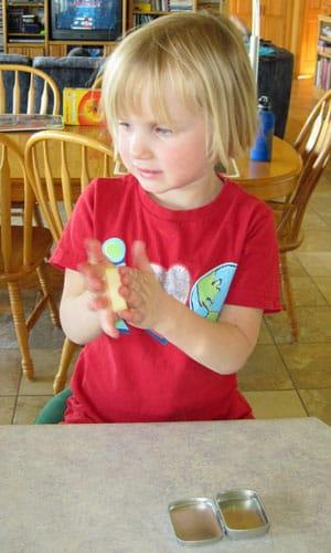 Bee Silk hard lotion bar for kids