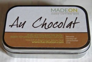 Au Chocolat Hard Lotion Tin