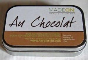 Au Chocolat Hard Lotion Tin