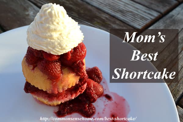 Mom's Best Shortcake Recipe combines the not-too-sweet flavor of this tender, moist cake with the tart-sweet strawberry-raspberry blend and whipped cream.