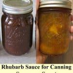 rhubarb sauce jars