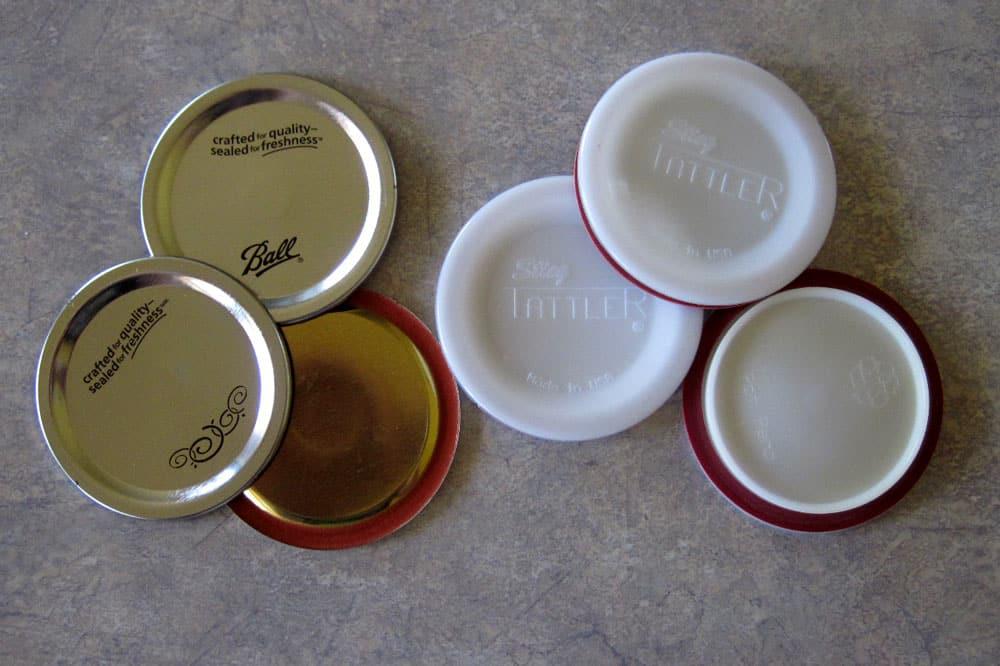 Comparison of Jarden Metal Lids and Tattler Reusable Canning Lids