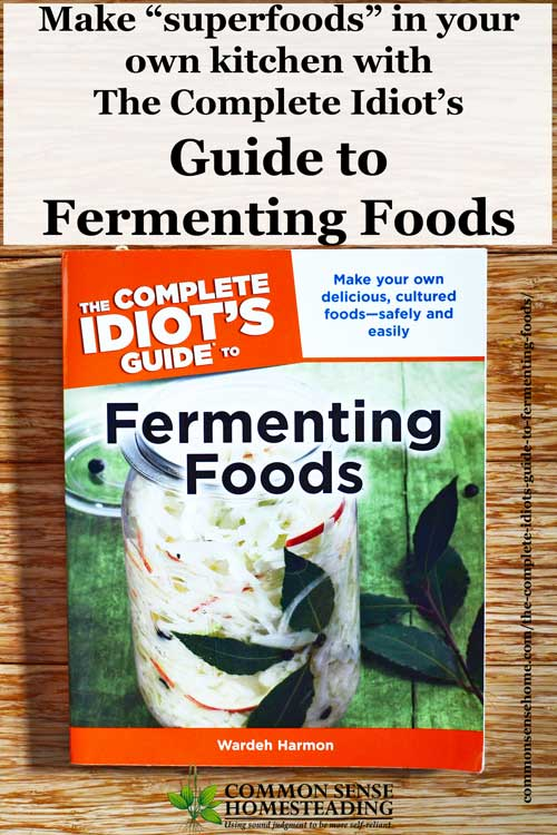 The Complete Idiot's Guide to Fermenting Foods review. Learn how and why to ferment foods safely and easily in your own kitchen.
