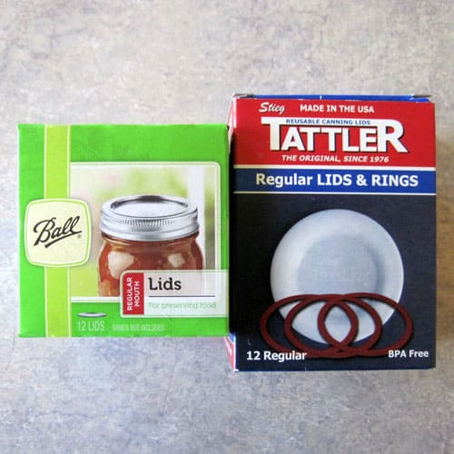 Comparison of Jarden Metal Lids and Tattler Reusable Canning Lids