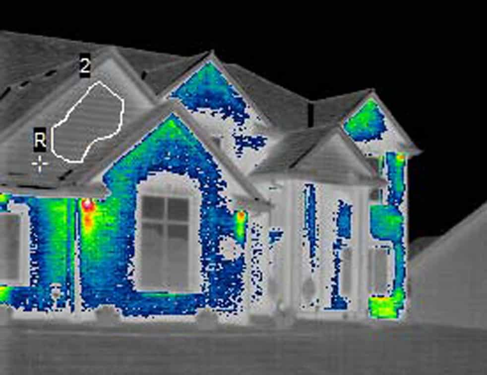 infrared photo comparison ICF home @ Common Sense Homesteading