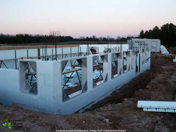 ICF foundation/basement wall in progress