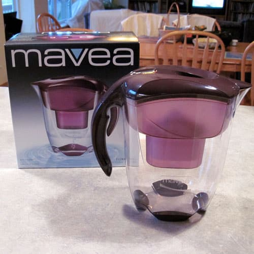 The Mavea Water Filter Pitcher is an attractive, easy to use, quick processing water filter that removes odors and many common contaminants.