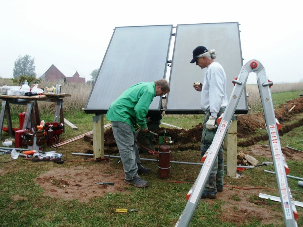 Solar Water Heating Collectors @ Common Sense Homesteading