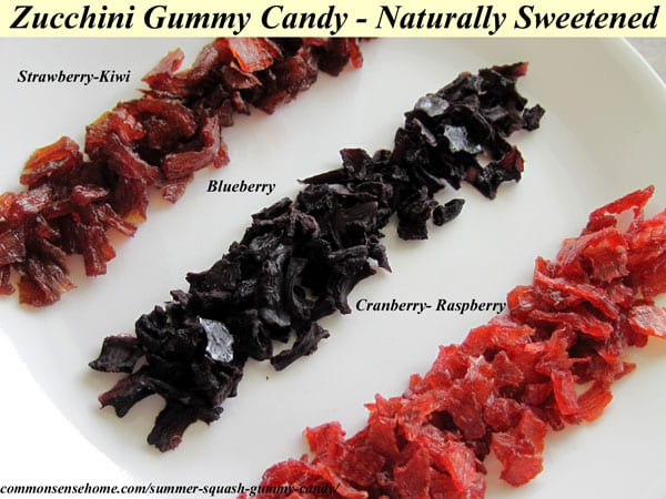 Naturally Sweetened Zucchini Gummy Candy Recipe - Tastes like commercial gummy treats with no artificial flavors, colors or refined sugar.