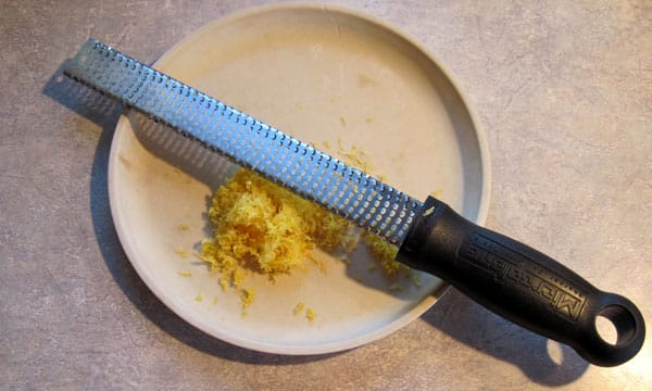 lemon zest for homemade extract