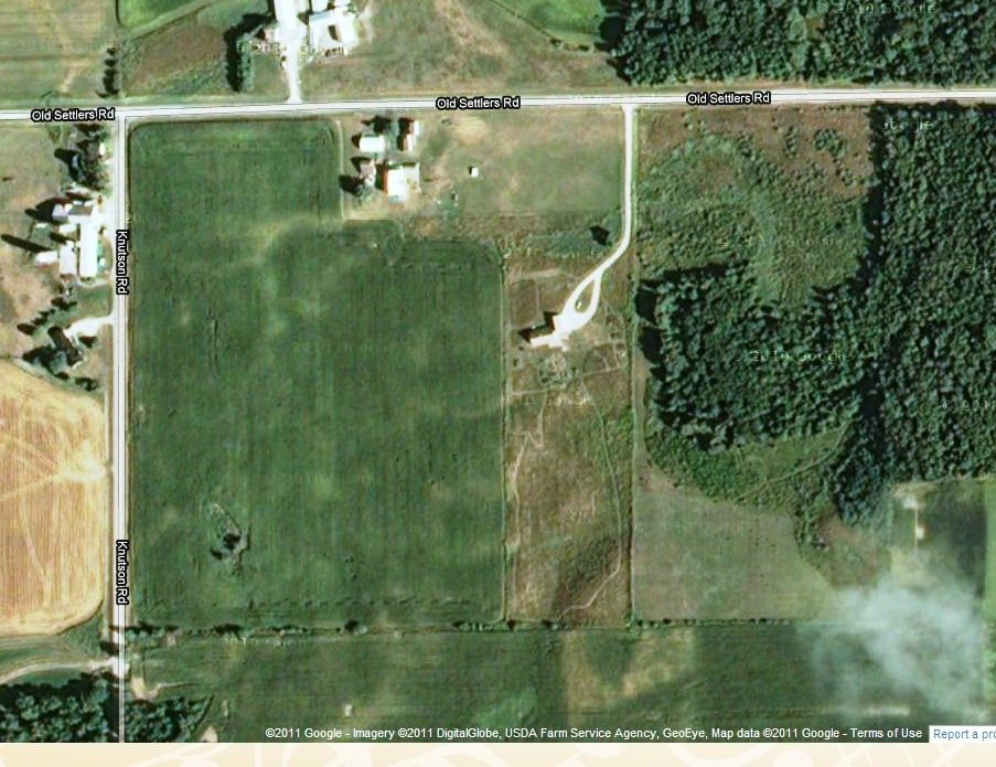 Arial view of the Homestead