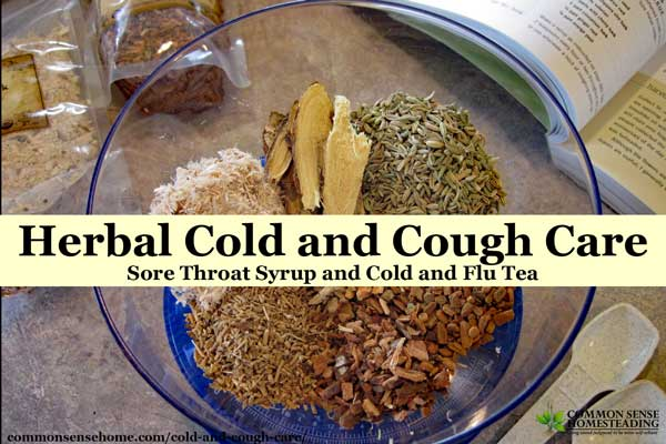 Herbal Cold and Cough Care – Sore Throat Syrup and Cold and Flu Tea