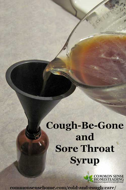 Herbal Cold and cough care - Cough-Be-Gone and Sore Throat Syrup and