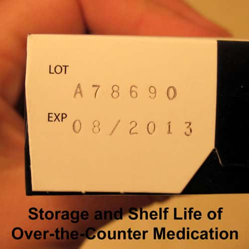 Storage and Shelf Life of Over the Counter Medications @ Common Sense Homesteading