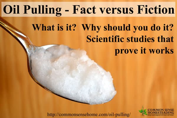 Oil pulling - Fact versus Fiction - What is oil pulling? What does oil pulling do? Scientific studies that prove oil pulling works.