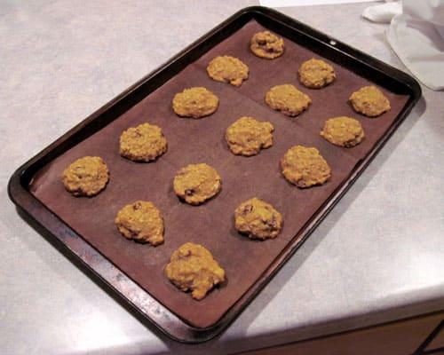 freshly baked pumpkin oatmeal cookies