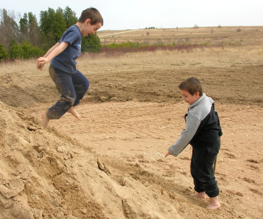 Boys in dirt