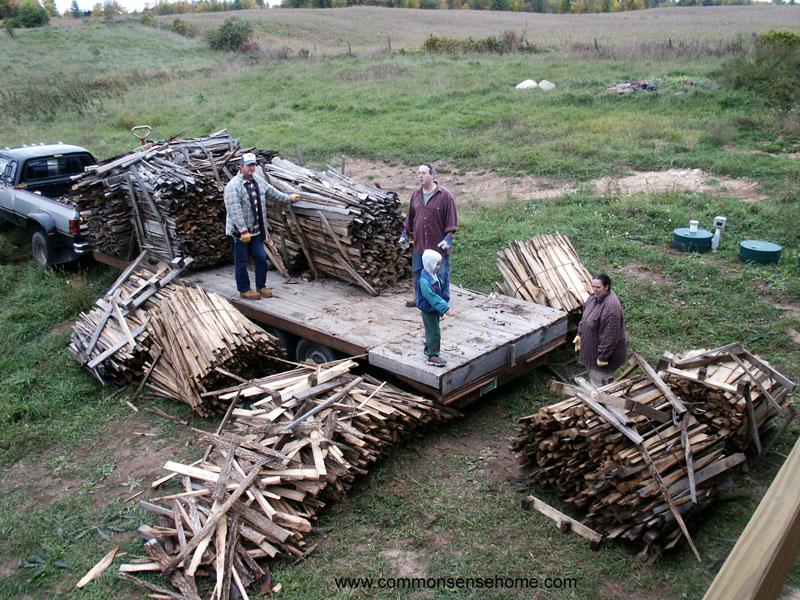 firewood arrives
