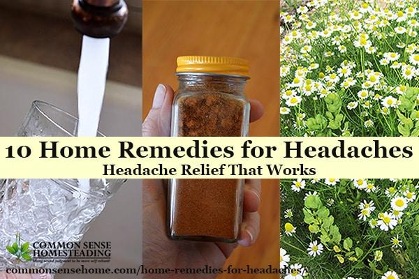 10 Home Remedies for Headaches – Headache Relief That Works