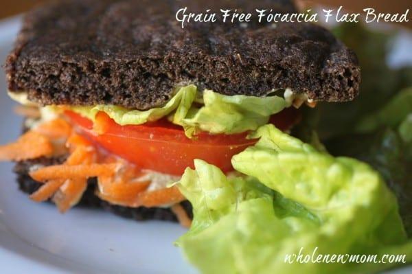Homemade bread recipes - Gluten Free Foccacia Flax Bread