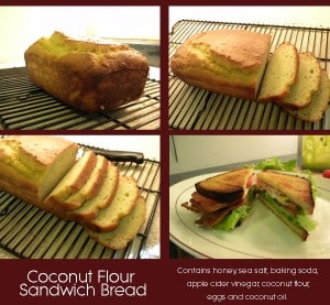 Homemade Bread Recipes - Coconut Flour Bread