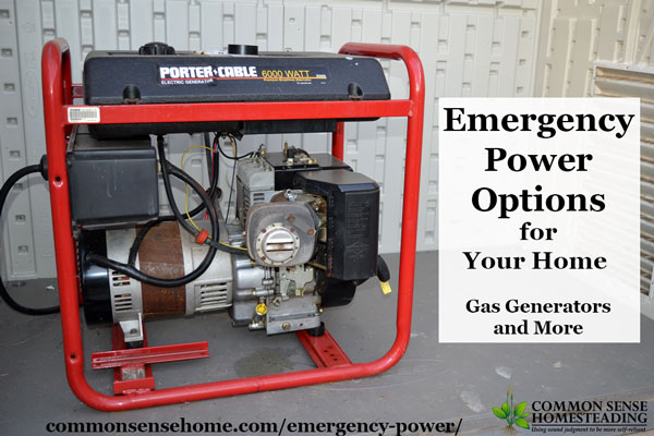 Emergency Power Options for Your Home - Keep your critical systems running when the power goes out with generators, batteries or spot chargers.