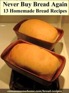 Finished sandwich bread in pans
