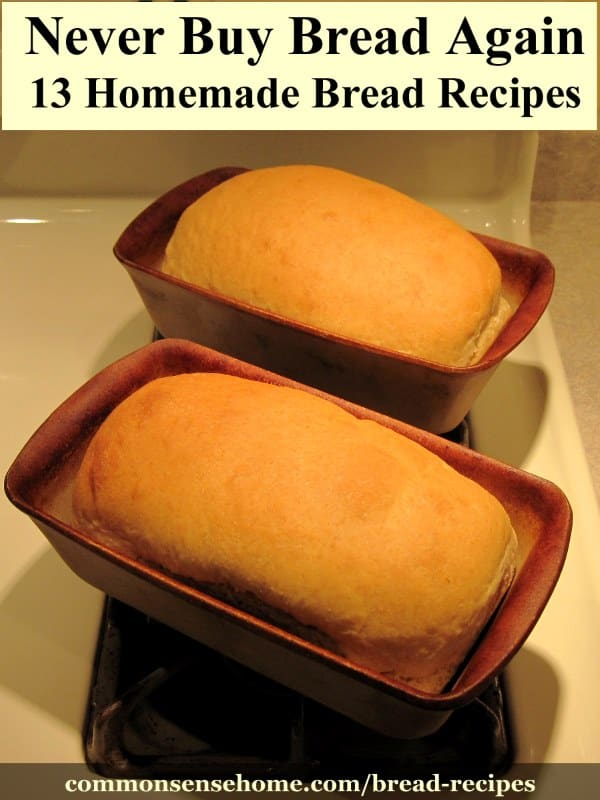 Finished sandwich bread in pans