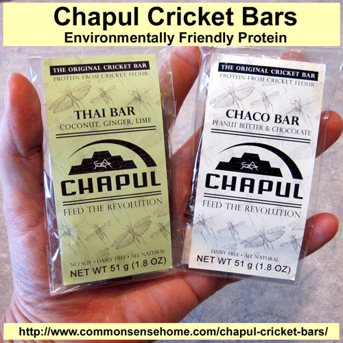 Chapul Cricket Bars Review @ Common Sense Homesteading