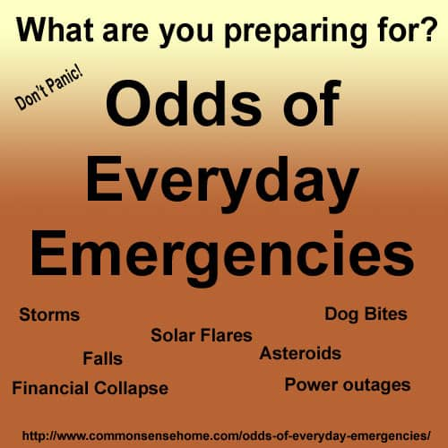 Odds of Everyday Emergencies @ Common Sense Homesteading