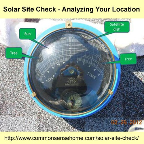 Solar Site Check - Analyzing Your Location @ Common Sense Home