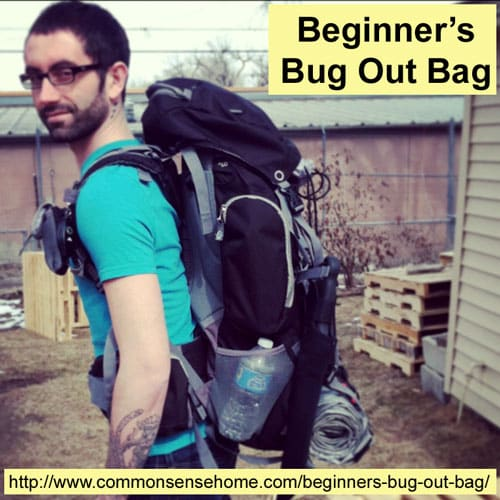 Beginners Bug Out Bag - What is a bug out bag? Bug out bag checklist. Why have a bug out bag. BOBs provide shelter, food, water and navigation tools.