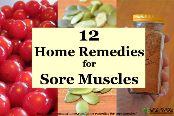 Natural Remedies For Sore Muscles