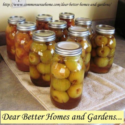 Dear Better Homes and Gardens