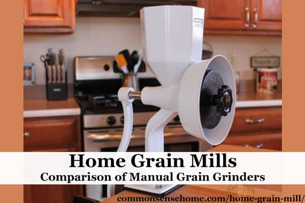 Make flour or grind your own cornmeal or peanut butter with a home grain mill. These hand powered grain grinders make grinding your own affordable and easy.