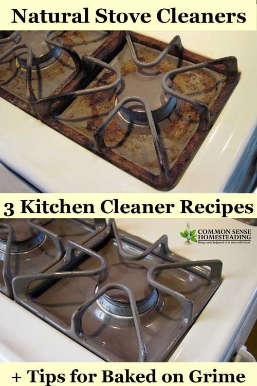Natural Cleaner For Baked On Food On Stove