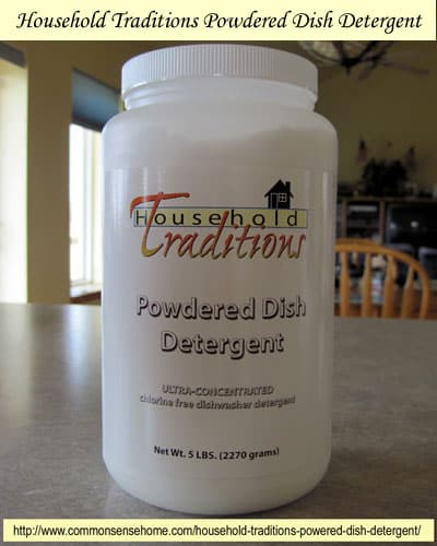 Household Traditions Powered Dish Detergent