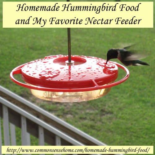 Homemade Hummingbird Food and My Favorite Nectar Feeder | Self-Sufficiency