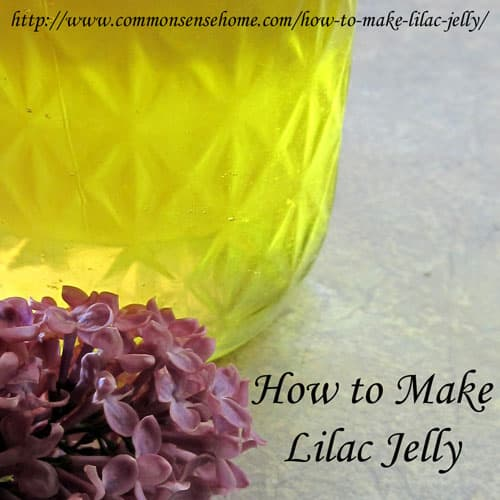 How to Make Lilac Jelly @ Common Sense Homesteading