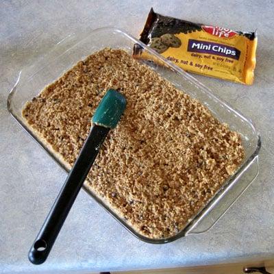 Honey Sweetened No-Bake Chocolate Peanut Butter Bars